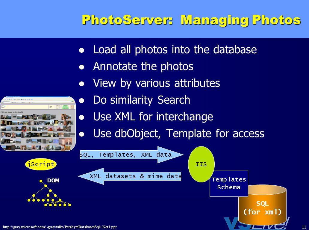PhotoServer: Managing Photos