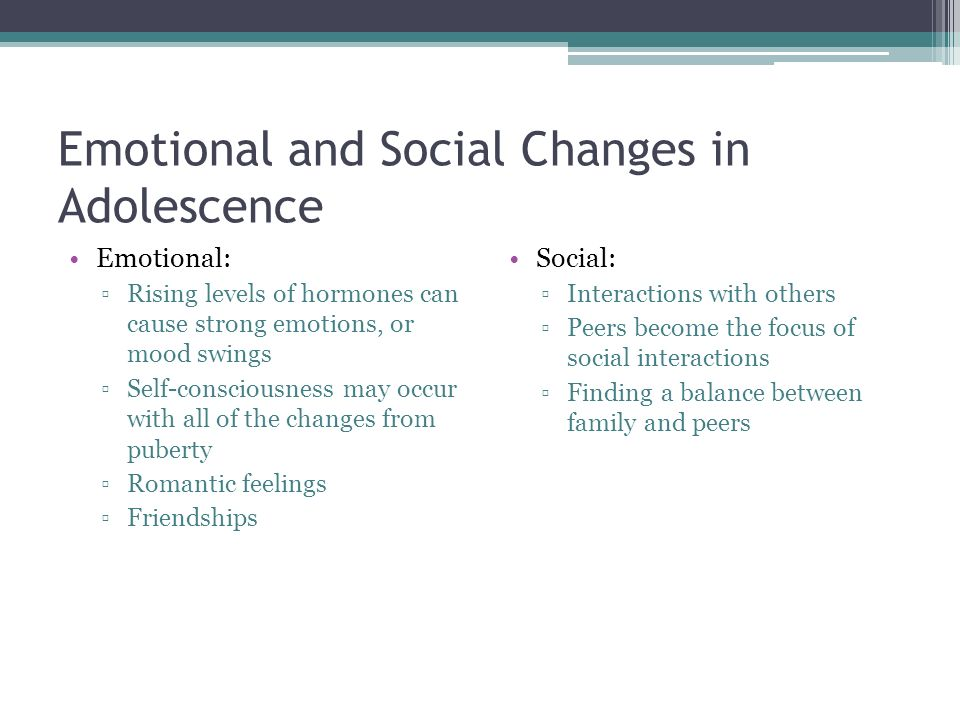 Major Transitions That Occur During Adolescence And The