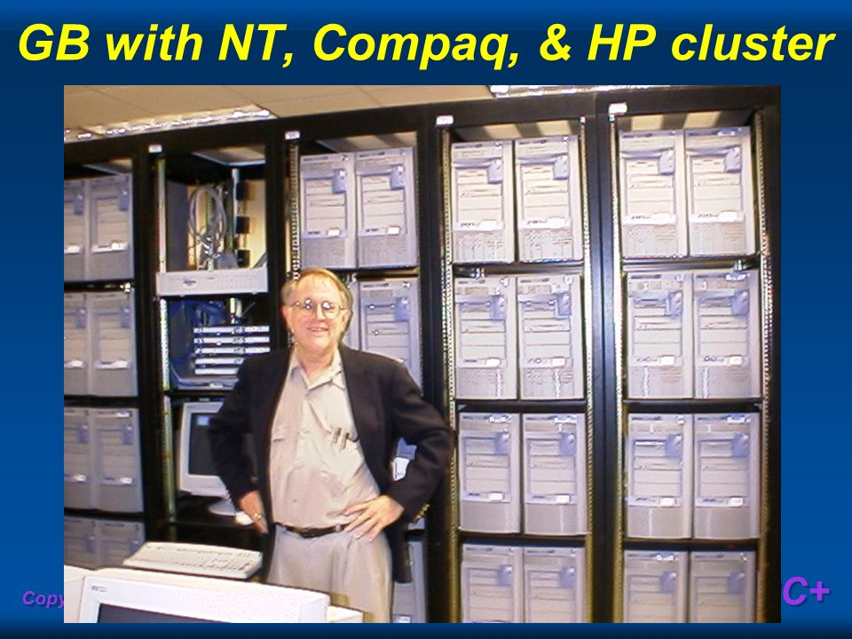 GB with NT, Compaq, & HP cluster