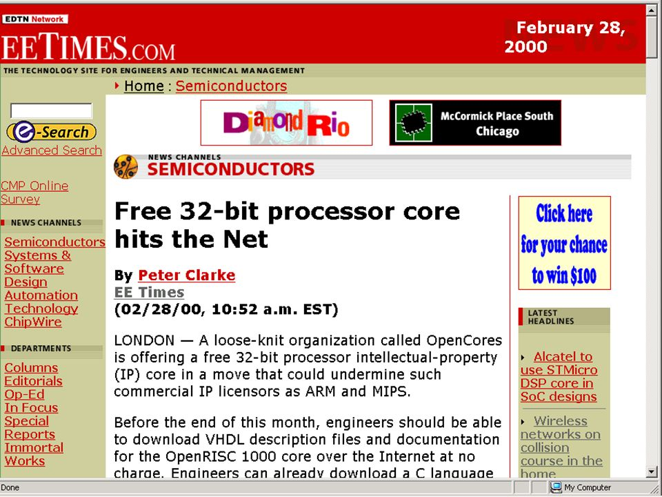 Free 32 bit processor core