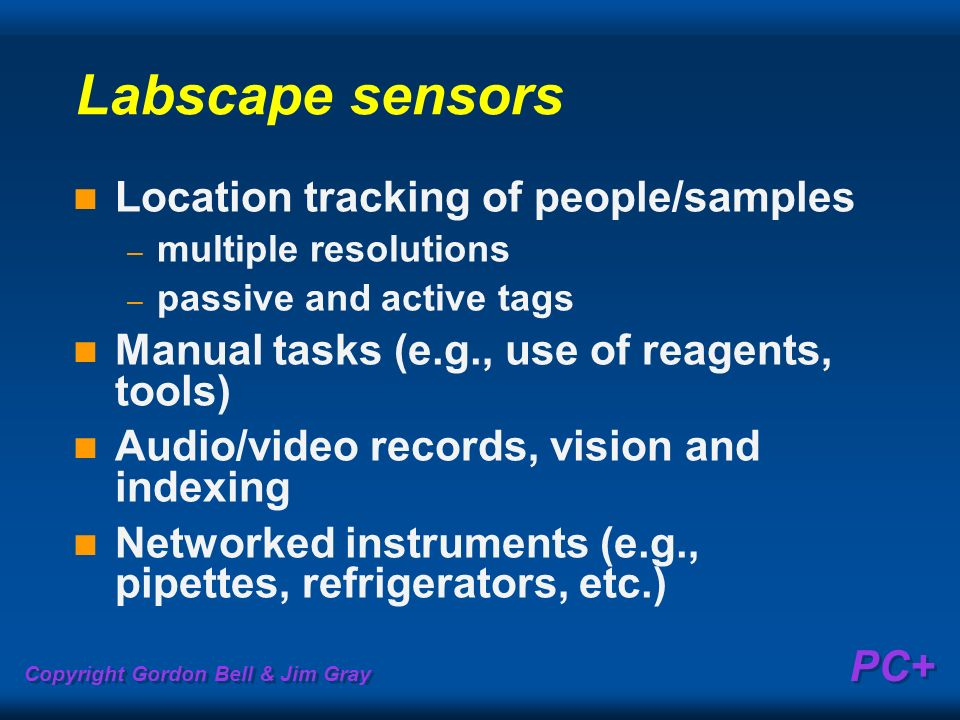 Labscape sensors Location tracking of people/samples