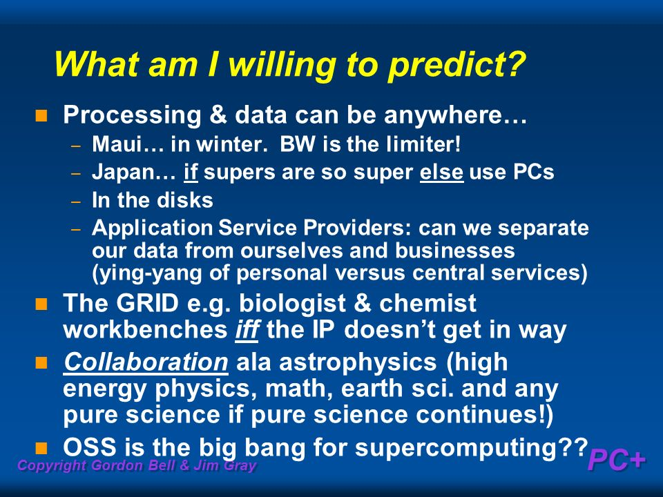 What am I willing to predict