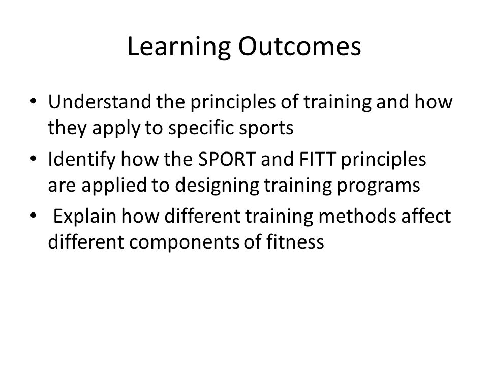 what is training explain the different methods of training Principles of training principles of training in order to get the most out of your training, you must follow some basic simple training principles which are overload, specificity, reversibility and variance.