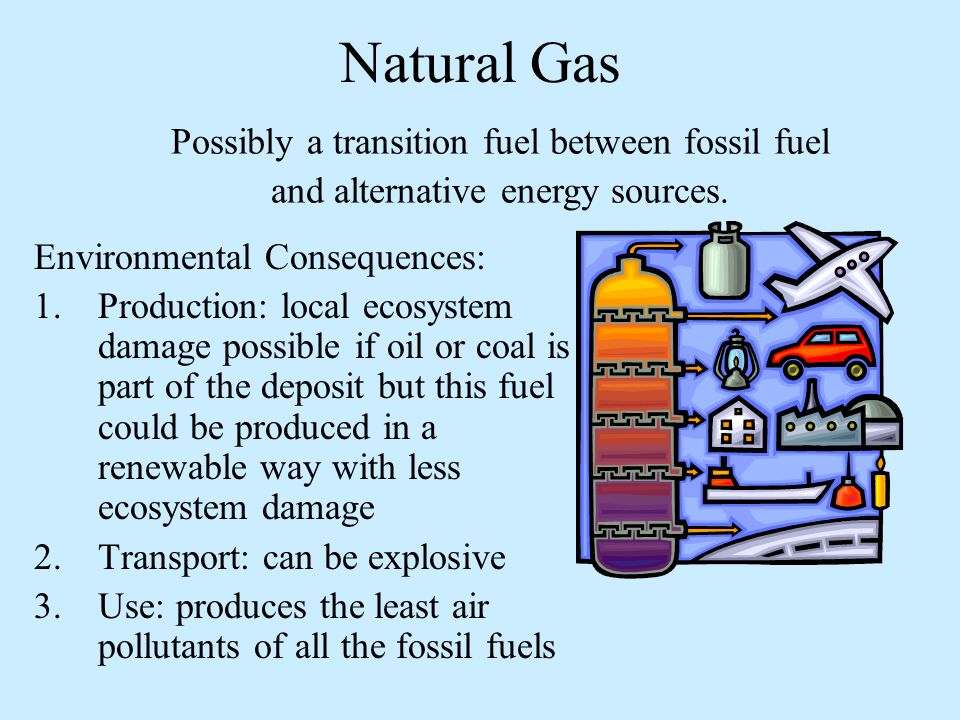 Problems With Natural Gas And Transport Fuel
