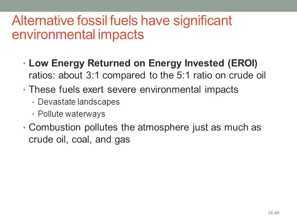 Essay on alternatives to fossil fuels