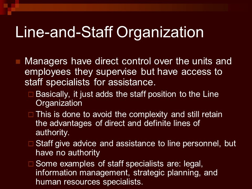 Line-and-Staff Organization
