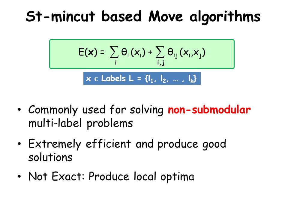 St-mincut based Move algorithms