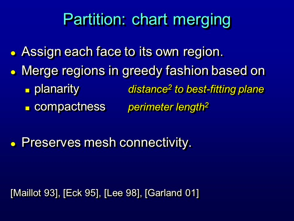 Partition: chart merging