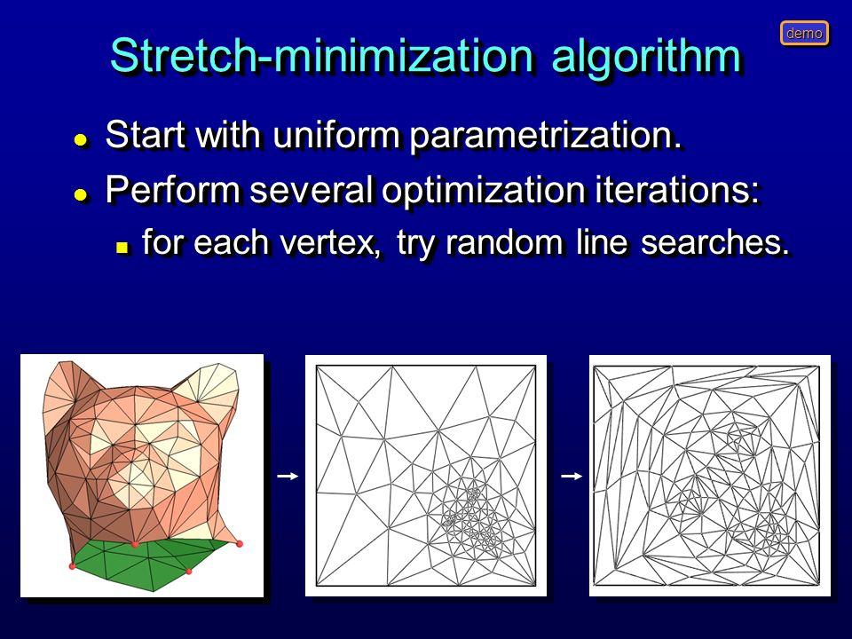 Stretch-minimization algorithm
