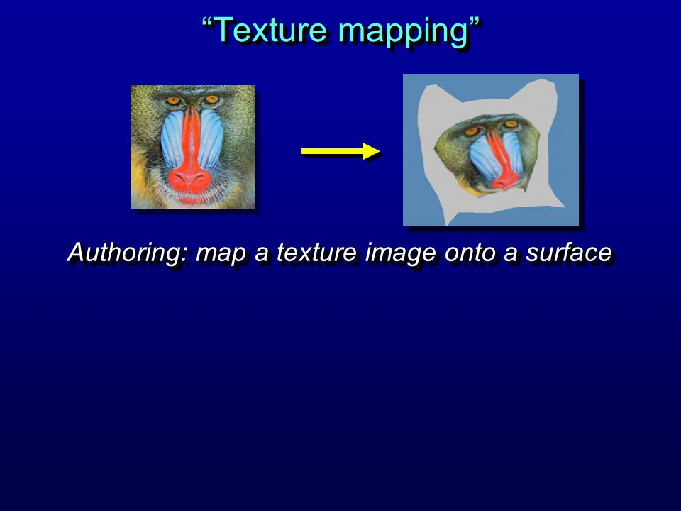 Authoring: map a texture image onto a surface