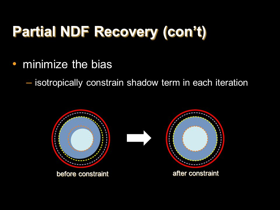 Partial NDF Recovery (con't)