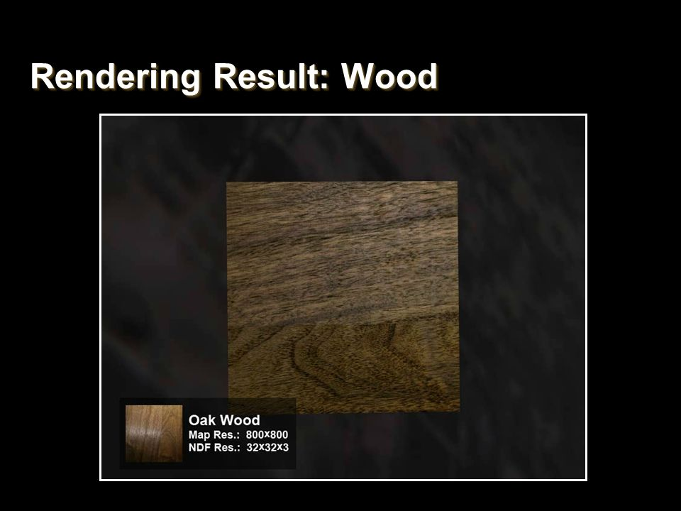 Rendering Result: Wood