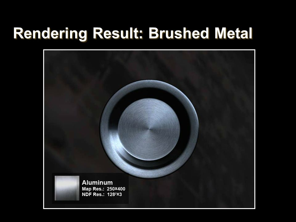 Rendering Result: Brushed Metal