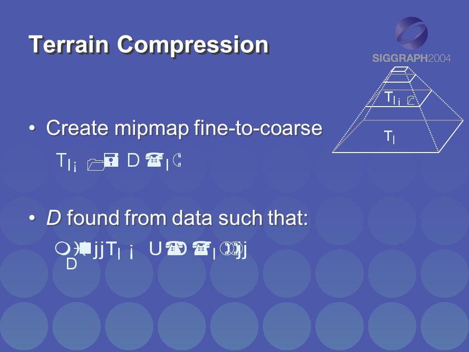 Terrain Compression Create mipmap fine-to-coarse