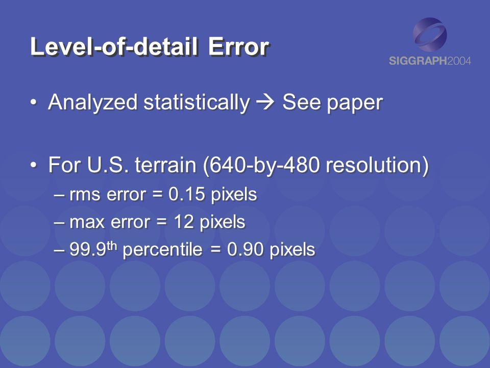 Level-of-detail Error