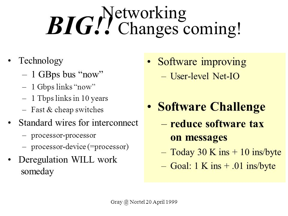 Networking BIG!! Changes coming!