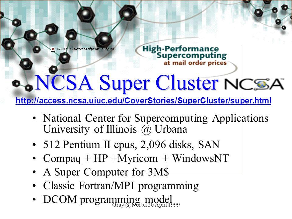NCSA Super Cluster http://access.ncsa.uiuc.edu/CoverStories/SuperCluster/super.html.