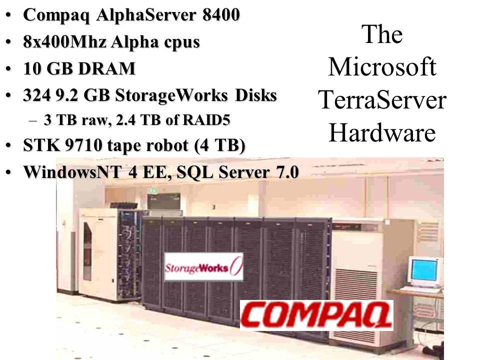 The Microsoft TerraServer Hardware