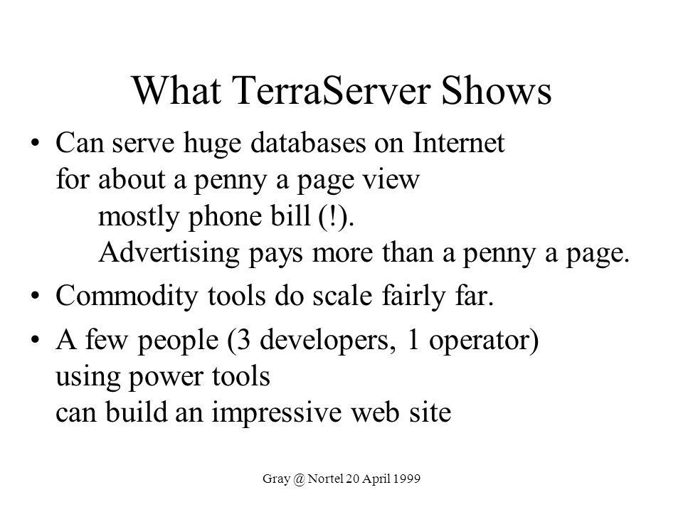 What TerraServer Shows