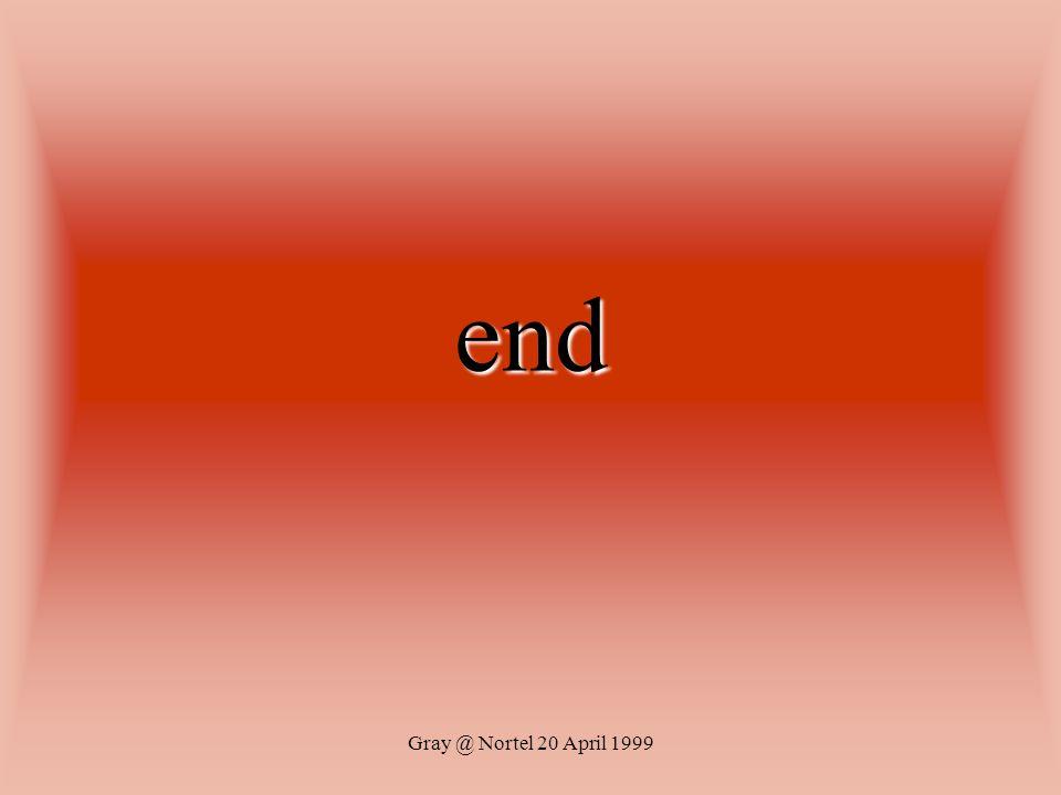 end Gray @ Nortel 20 April 1999