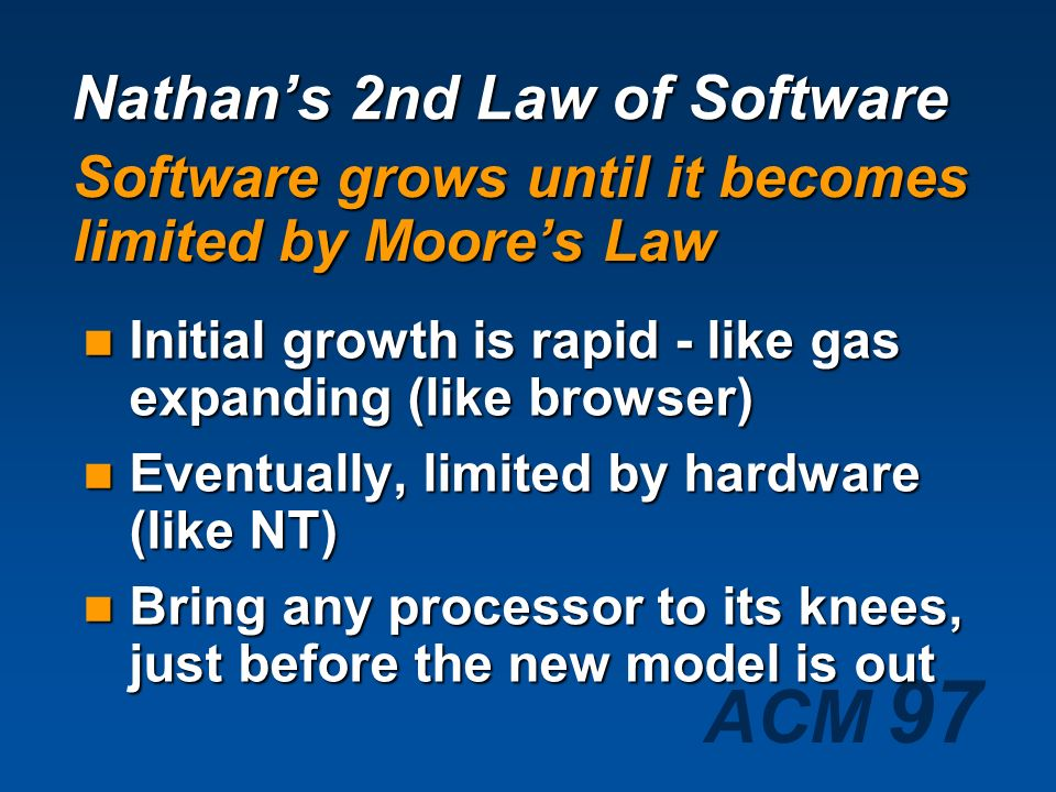 Nathan's 2nd Law of Software