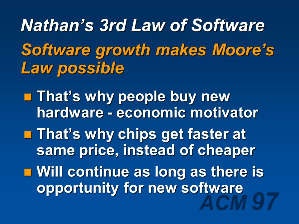 Nathan's 3rd Law of Software