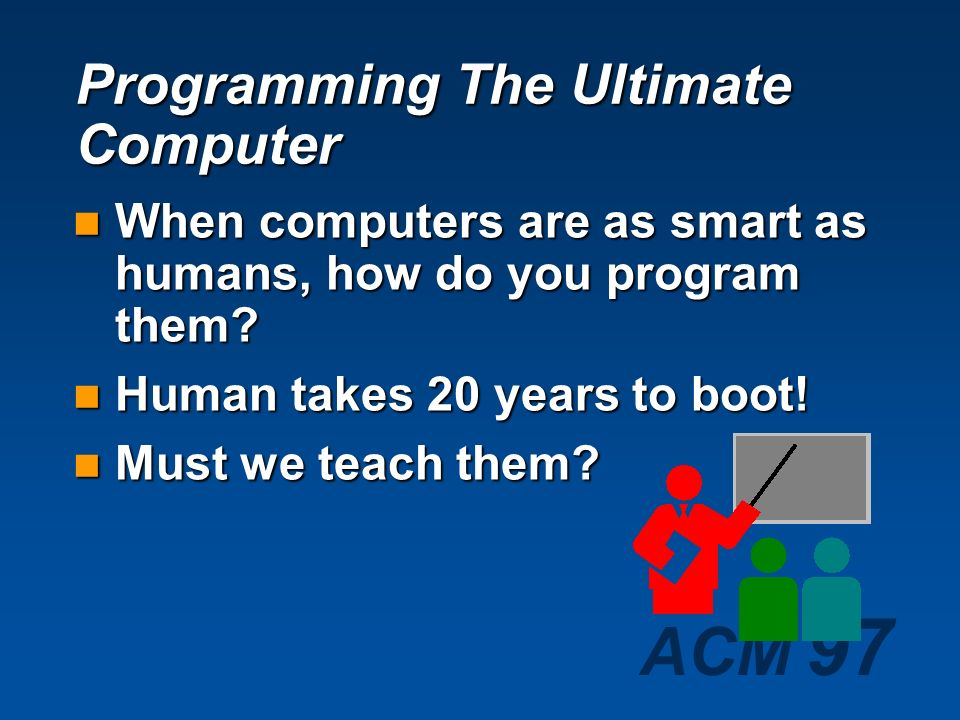 Programming The Ultimate Computer