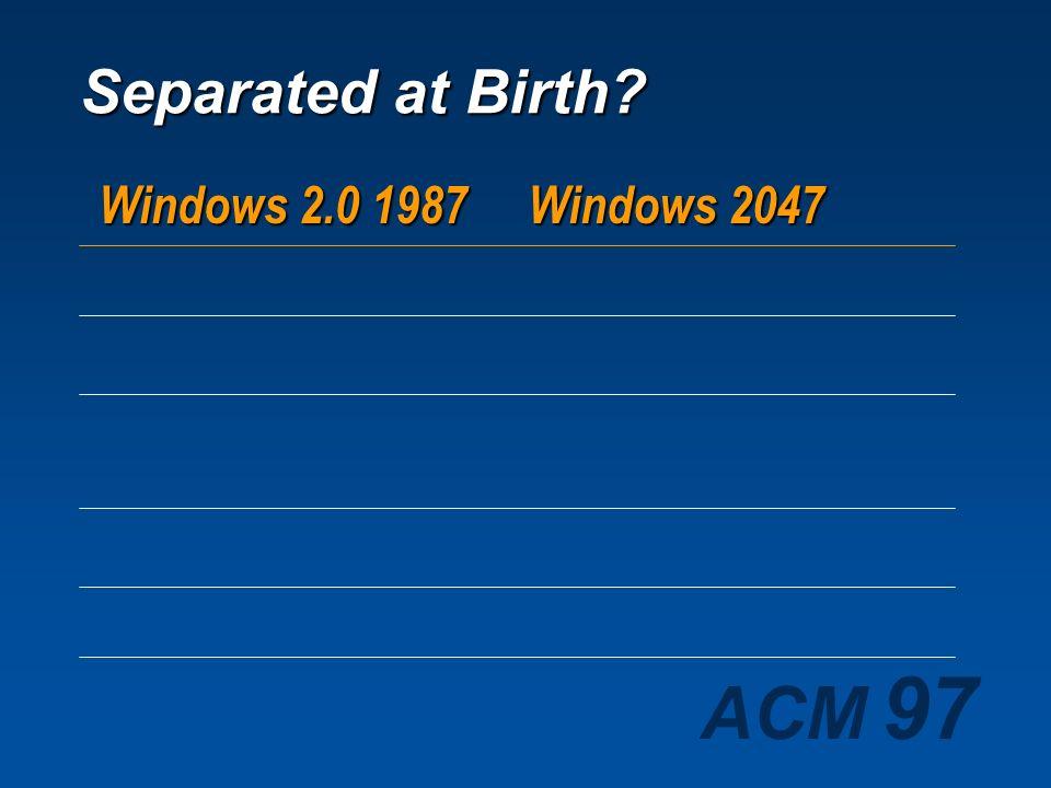 Separated at Birth Windows 2.0 1987 Windows 2047