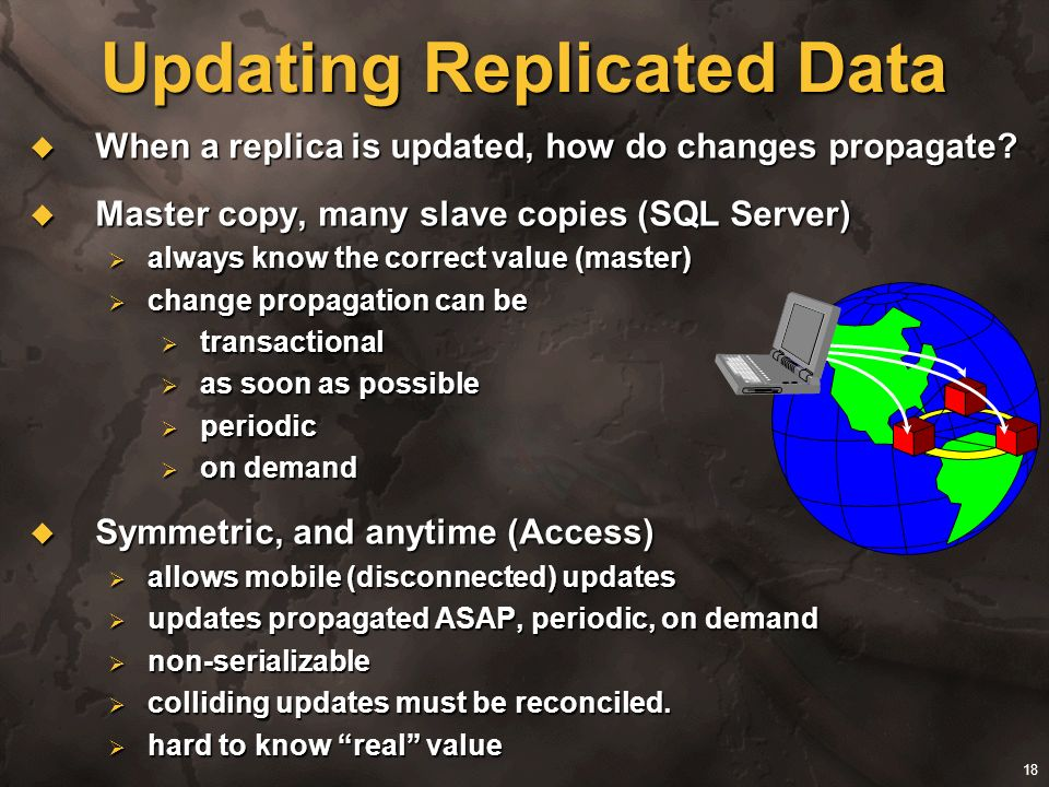 Updating Replicated Data