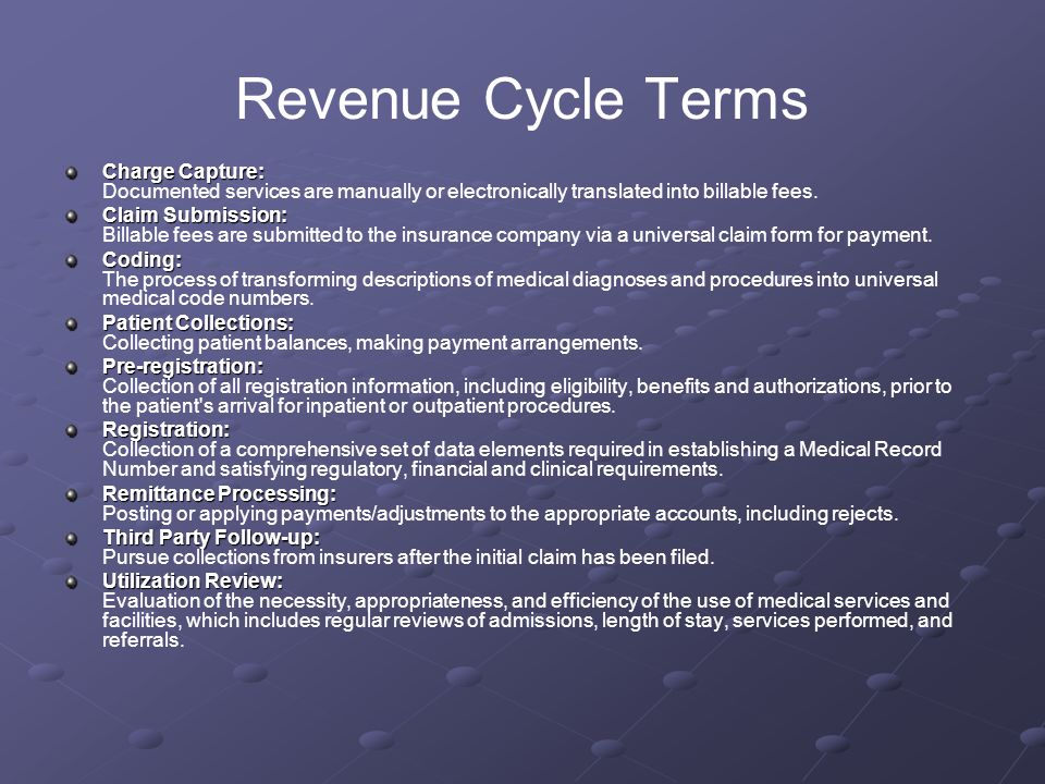 revenue cycle ppt video online download