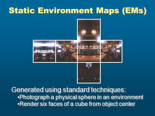 Static Environment Maps (EMs)
