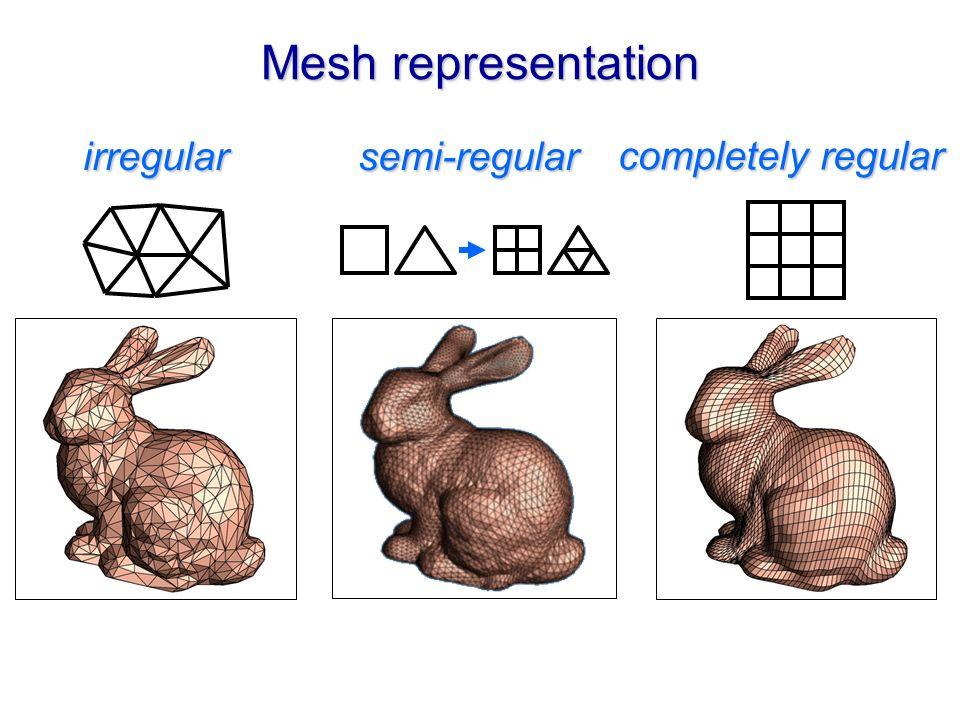 Mesh representation irregular semi-regular completely regular