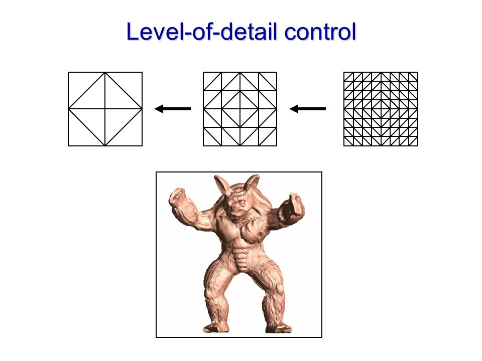 Level-of-detail control