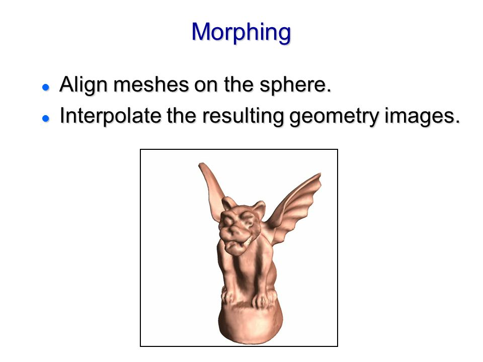Morphing Align meshes on the sphere.