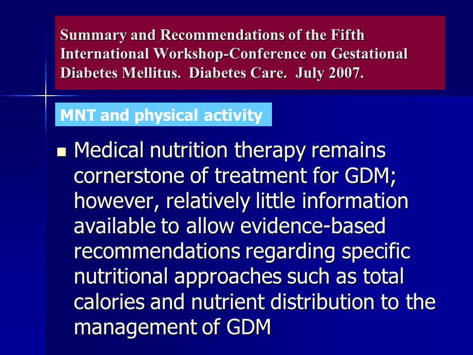 Evidence based overview of gestational diabetes nursing