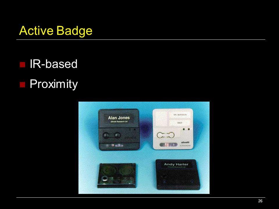 Active Badge IR-based Proximity
