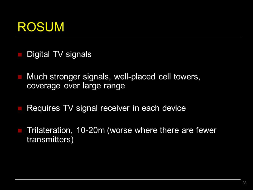 ROSUM Digital TV signals