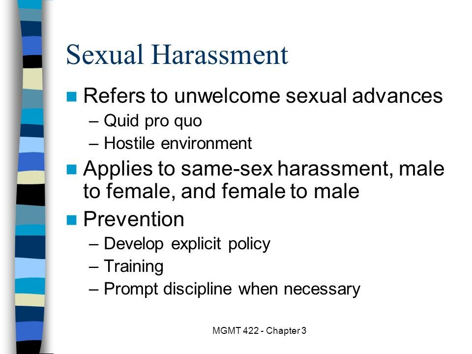 Sexual Harassment Applies To