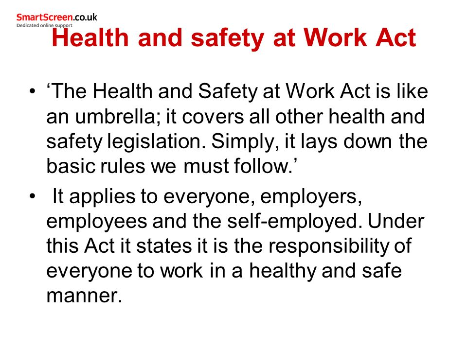 health and safety act pdf