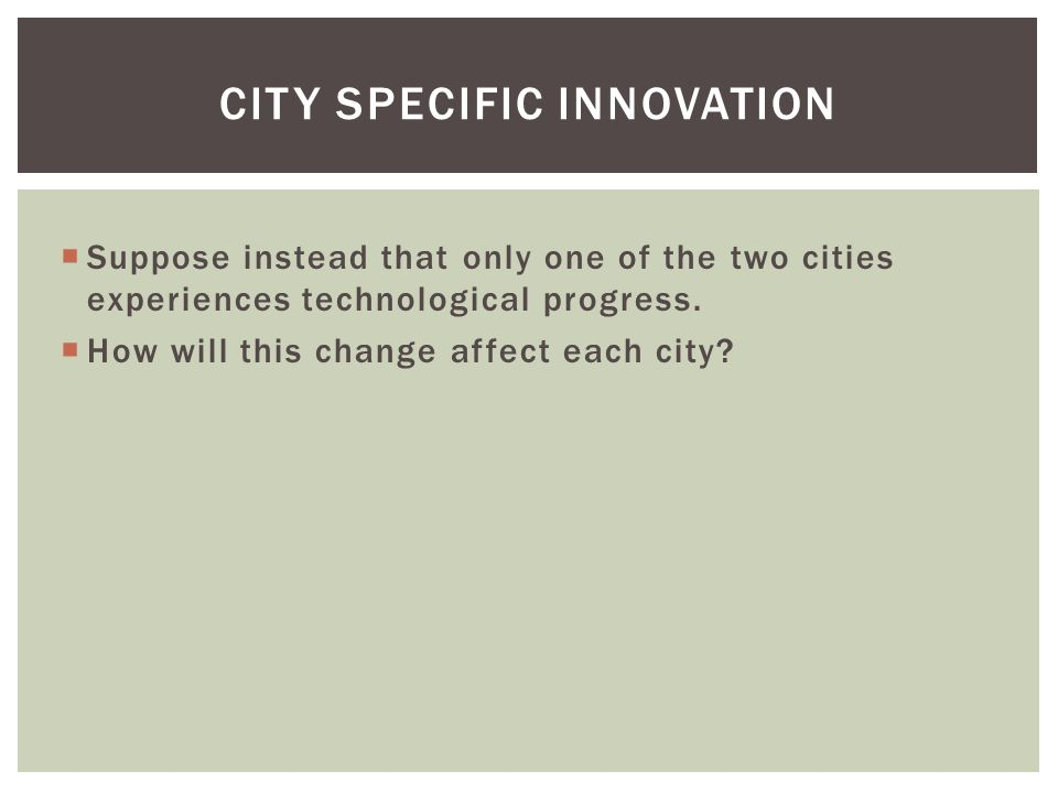 City Specific Innovation