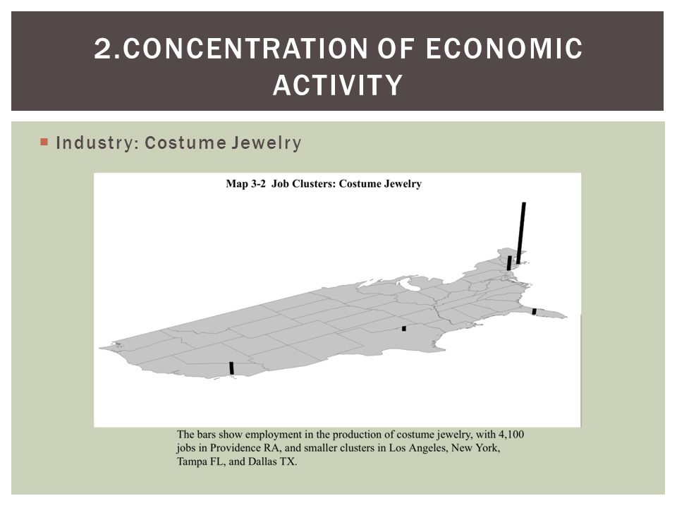 2.Concentration of Economic ACTIVITY