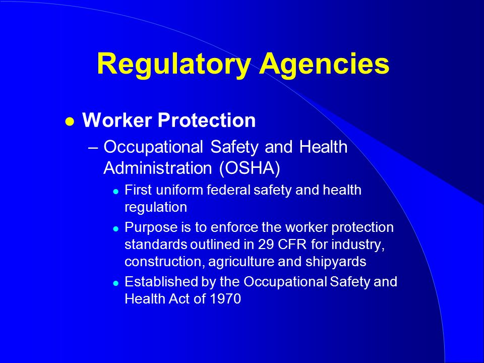 occupational safety and health act osha essay The occupational safety and health act or osha states the following: each employer shall furnish to each of his employees employment and a place of employment which are free from recognized hazards that are causing or are likely to cause death or serious physical harm to its employees.