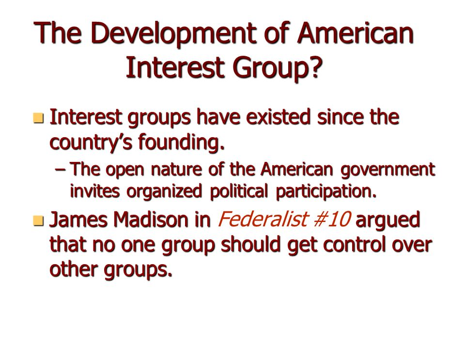 ap gov essay interest groups Affordable online ap us government test prep for the ap exam these videos review the content covered in ap us  political parties and interest groups.