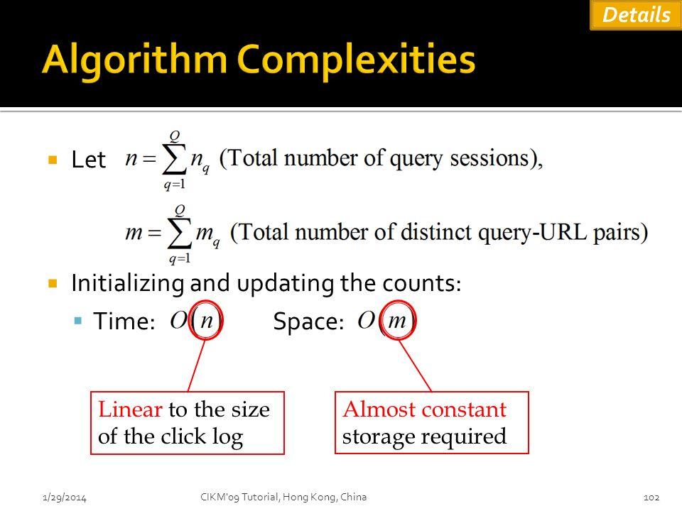 Algorithm Complexities