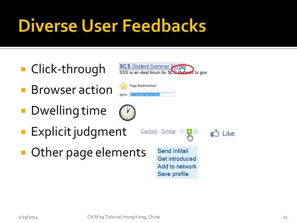 Diverse User Feedbacks