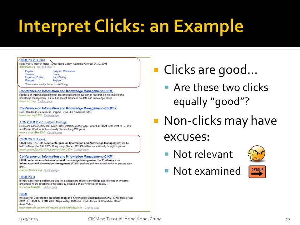 Interpret Clicks: an Example