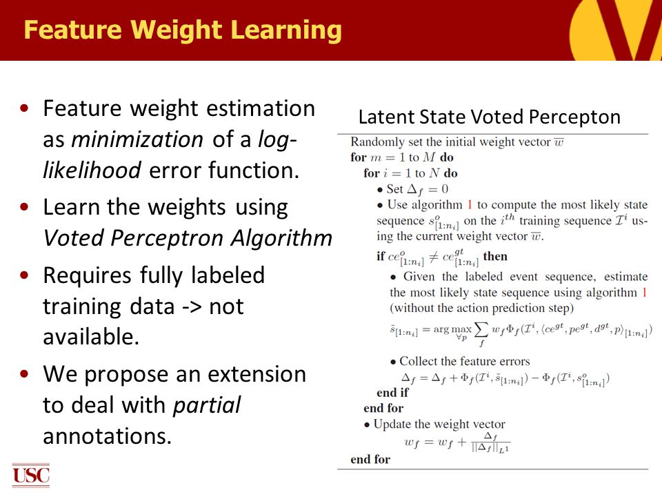 Feature Weight Learning