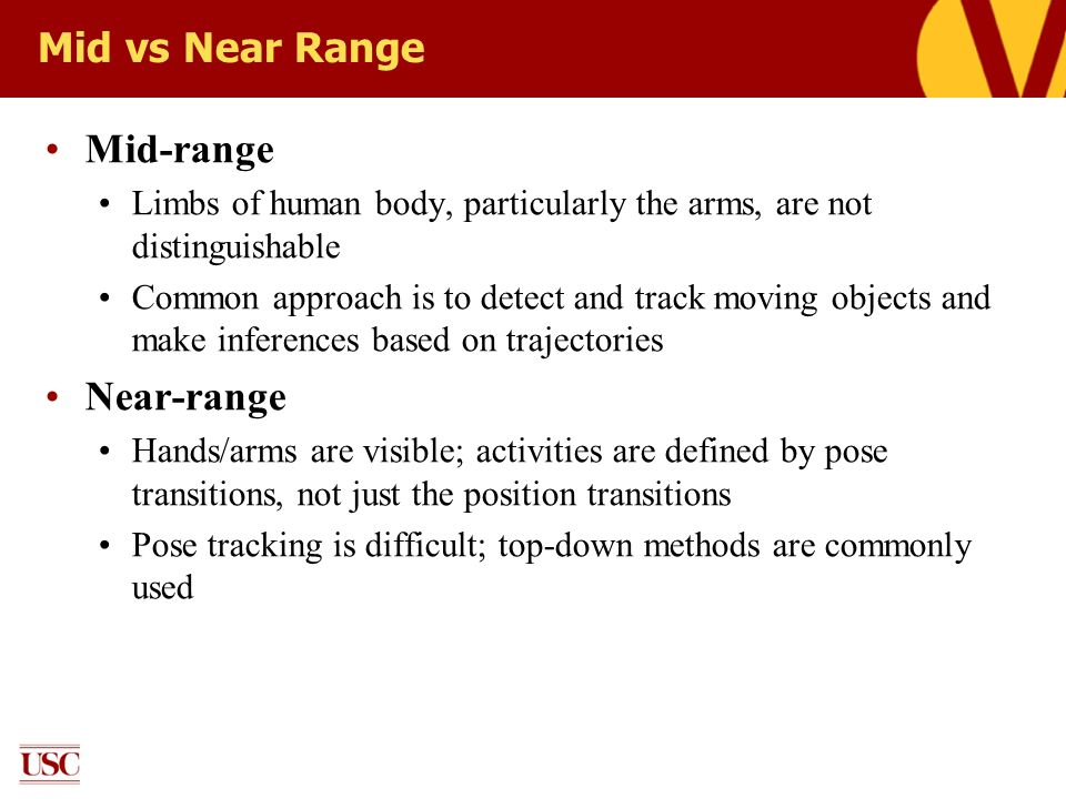 Mid vs Near Range Mid-range Near-range