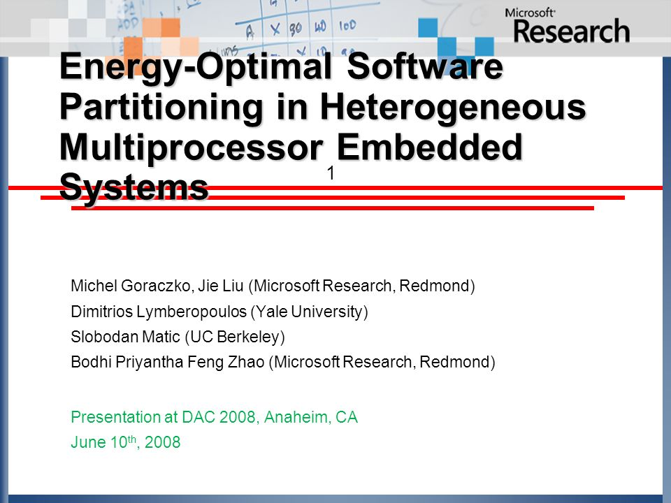 Energy-Optimal Software Partitioning in Heterogeneous