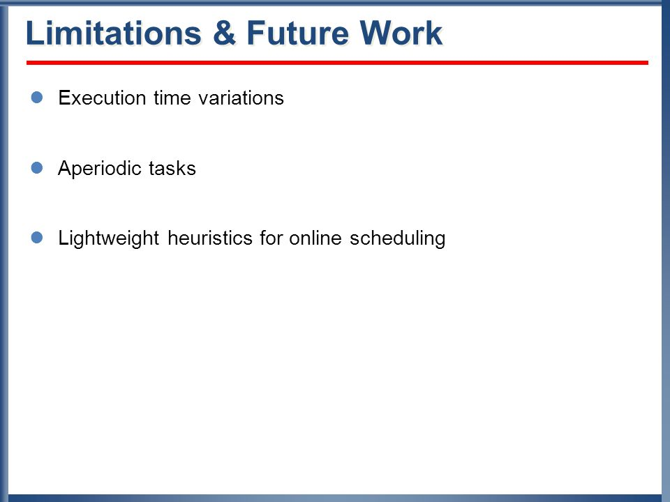 Limitations & Future Work